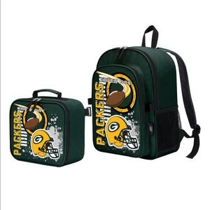 Youth Green Bay Packers lunch box and backpack set